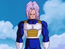 Future Trunks on the battlefield