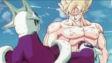 Goku overwhelms Cooler