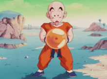 Krillin with a Dragon Ball