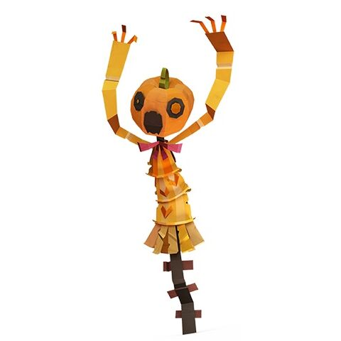 A modified pumpkin head