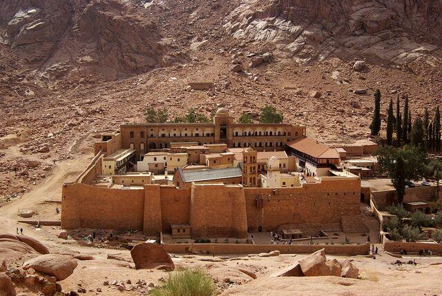 File:1280px-Katharinenkloster Sinai BW 2.jpg