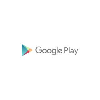 The Google Play logo before the slight color change of the icon in 2016.