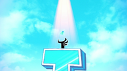 Robin's ghost going to heaven