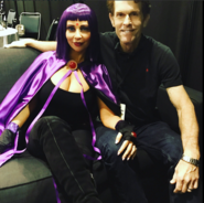 Tara Strong with Kevin Conroy Stan Lee Comic Con