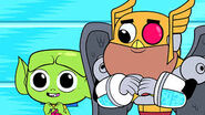 Kid cyborg and kid beast boy