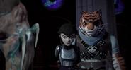 Karai Held Prisoner By Super Shredder And Tiger Claw