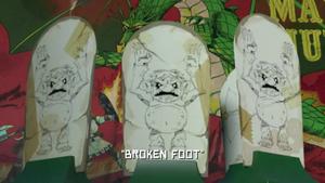 Broken Foot Title Scene