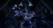Super Shredder Shields Karai's And Shini's Attacks