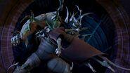 Fight Of Splinter And Super Shredder
