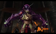 Lord Vringath Dregg Behind Donatello