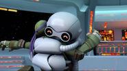 Fugitoid Hugging Donatello To Thank Him