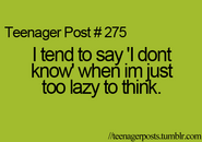 Teenager Post 275