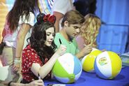 Grace and Garret Sign Beach Balls