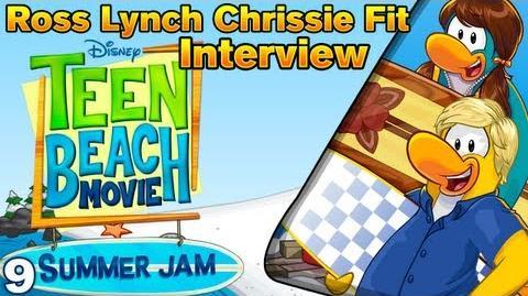 Teen Beach Movie Summer Jam Ross Lynch & Chrissie Fit Interview HD