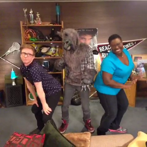 File:Teen Wolf Season 3 Behind the Scenes Tyler Oakley Not Teen Wolf and Shantal Rhodes.png