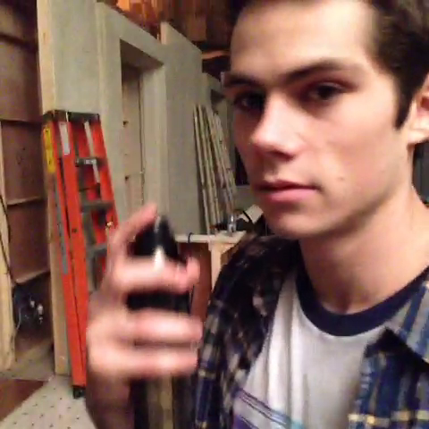 Datei:Teen Wolf Season 3 Behind the Scenes Dylan OBrien Smell This.png