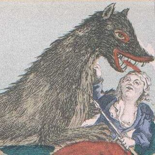 The Beast attacking a woman