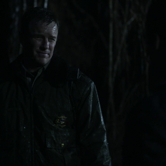 Stiles' dad catches him in the woods