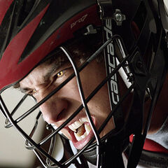 Scott transforms during lacrosse practice