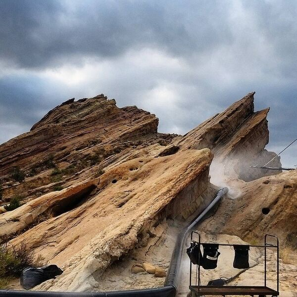 Teen Wolf Season 5 Behind the Scenes smoke machine Vasquez Rocks 091615