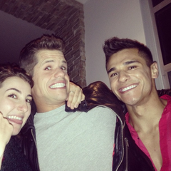 Charlie Carver party candid