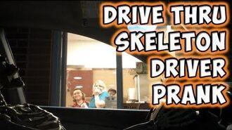 Drive Thru Skeleton Driver Prank-0