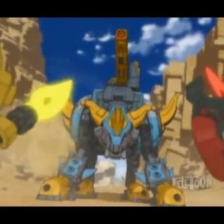 Hos in Titan Mode facing the Tenkai Knights.