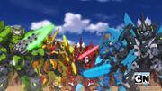 Tenkai knights as one