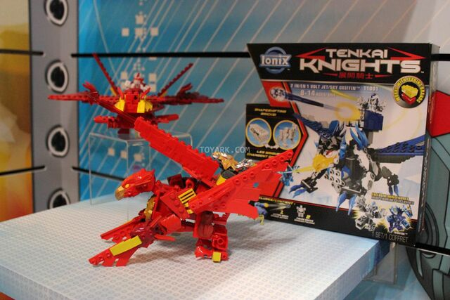 File:Flame Phoenix & Fire Raptor at NY Toy Fair 2014.jpg