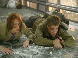 John Connor and Kate escaping
