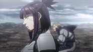 Kanako preparing for a fight