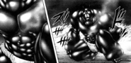 Infernalis Terraformar taugh armor protecting him from Shokichi's sting
