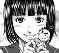 Yuriko making Akari doll.png