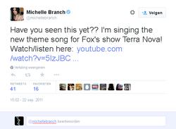 Michelle Branch Terra Nova tweed