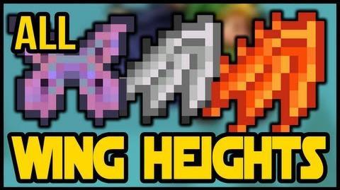 Wing height comparison, Flame Wings, Frozen Wings, Ghost Wings, Leaf Wings, Harpy Wings, Bone Wings