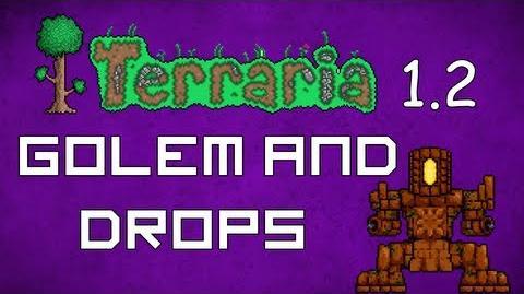 Golem and Drops - Terraria 1