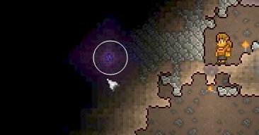 File:Terraria Demonite Ore Glow-in-the-Dark.png