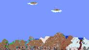 Hallowed floating island