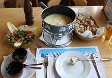 File:Full cheese fondue set - in Switzerland.JPG