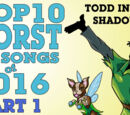 The Top Ten Worst Hit Songs of 2016