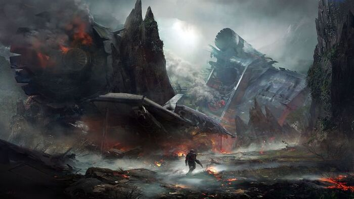 Fallen ship