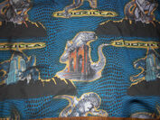 Vintage 1998 GODZILLA Twin Bed SET Sheet Fitted Pillowcase 90's Bedding2
