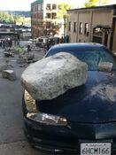 Godzilla 2014 Smashed Car 2