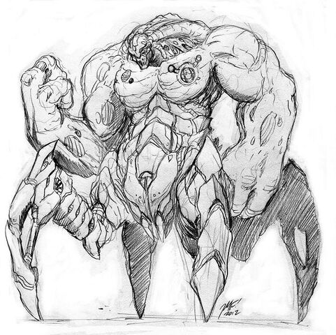 File:Exterminus is a cyborg war-machine from the distant planet of Burria Prime. In his neutral aspect he exhibits well-rounded combat abilities and weapons..jpg