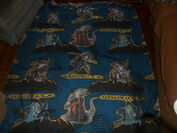 Vintage 1998 GODZILLA Twin Bed SET Sheet Fitted Pillowcase 90's Bedding0
