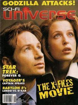 THE X-FILES MOVIE SCI FI UNIVERSE AUGUST 1998 GODZILLA ATTACKS! Single Issue Magazine – January 1, 1998