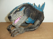 Godzilla hand operated head bust3