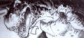 Story Boards for Steve Miner's proposed Godzilla film by William Stout1