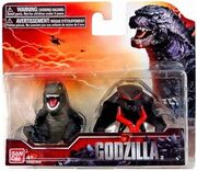 Godzilla 2014 and winged muto chibi toys by minanfranco-d79fyv0