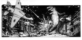 Story Boards for Steve Miner's proposed Godzilla film by William Stout3